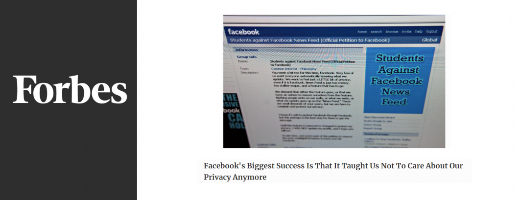 Facebook's Biggest Success Is That It Taught Us Not To Care